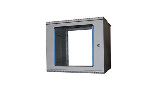 "12U Rack Wall-mounted 19"" cabinet, 12U, LC, glass door, 590 x 600 x 440 mm"