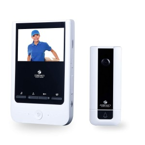 ZEBRONICS Video Door Phone with 4 inch Screen (ZEB-VD43WR)