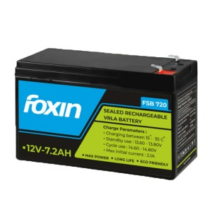 Foxin Ups Battery 7.2ah/12v (Fsbm-720) 1year Brand Warranty